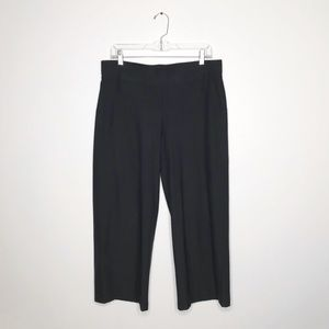 Eileen Fisher Charcoal Wide Leg Crop Pants